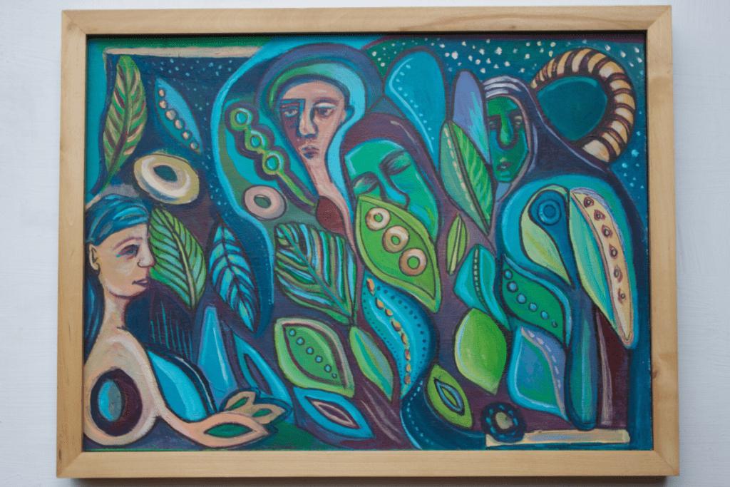 'Dream' Acrylic on Wood: $200
