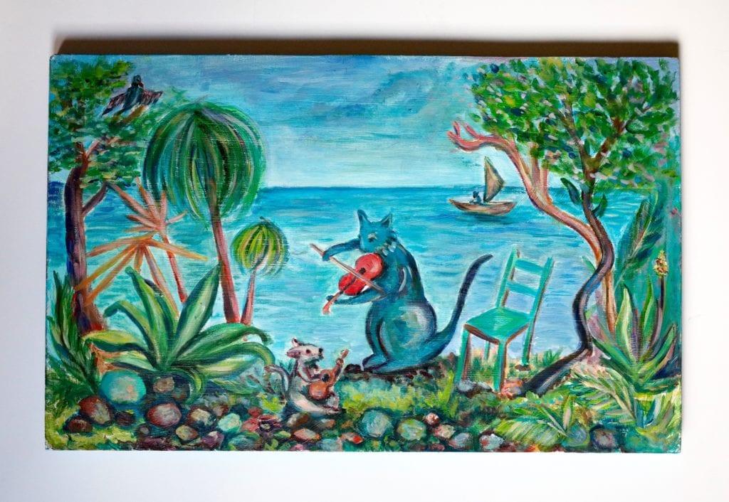 'Argayall' Acrylic on wood: Sold