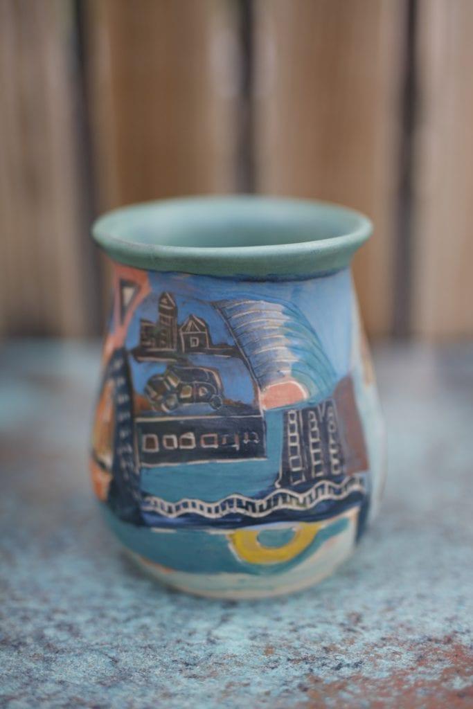 24. Large Ceramic vase (backside)