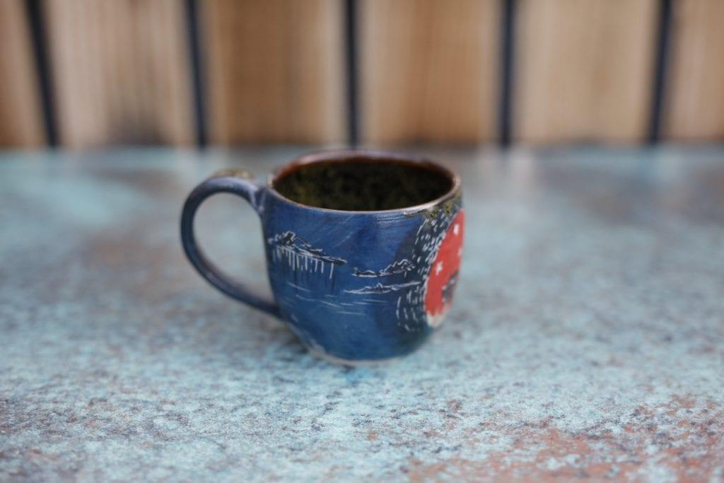 22. Ceramic cup $15