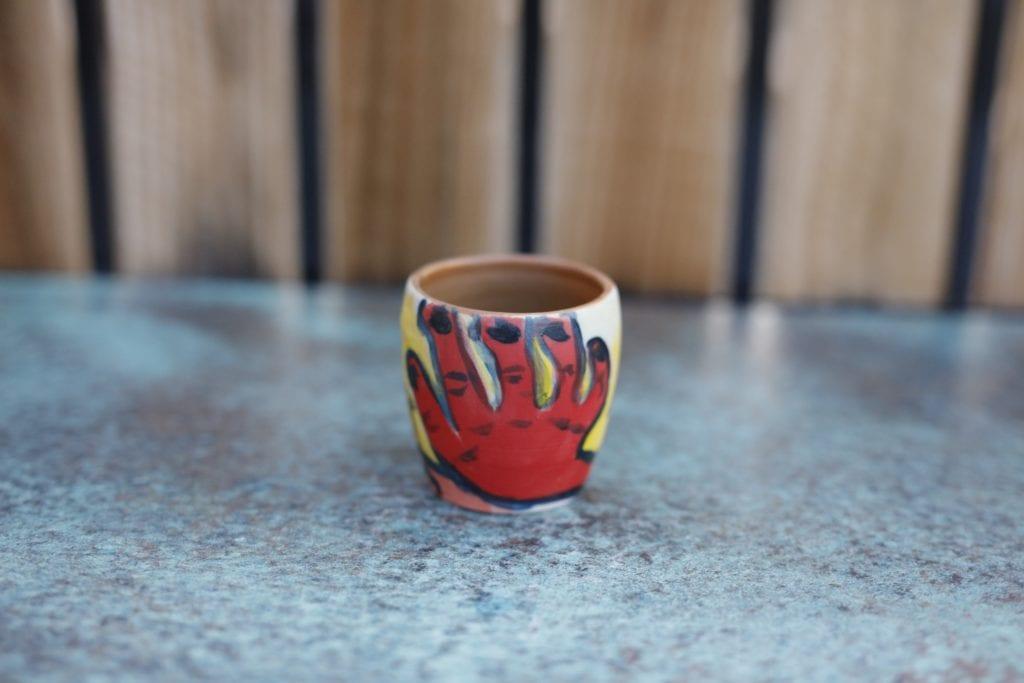 20. Ceramic cup $15