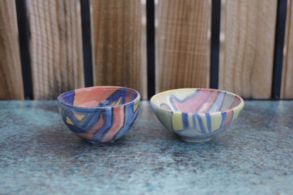 6. Set of 2 Ceramic Bowls $30