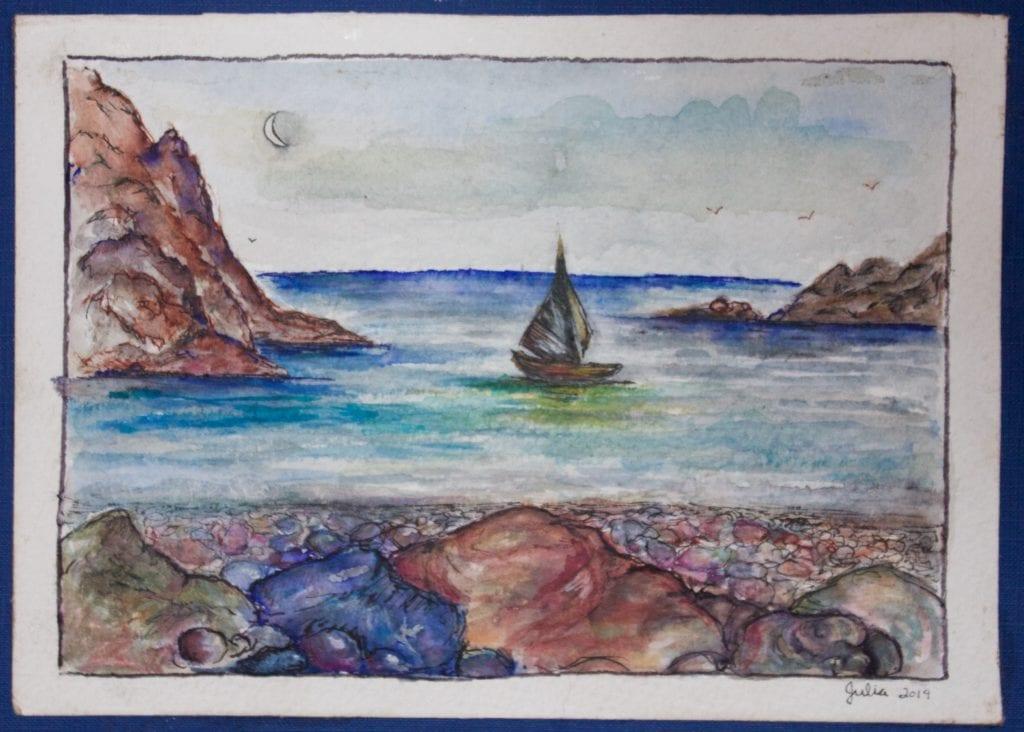 'Seputula' Watercolor on Paper: $25